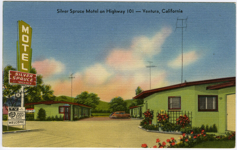 Silver Spruce Motel Postcard