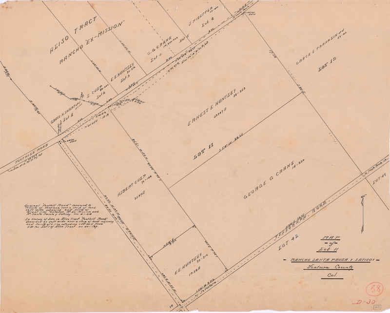 Rancho Santa Paula y Saticoy Lot 11 map