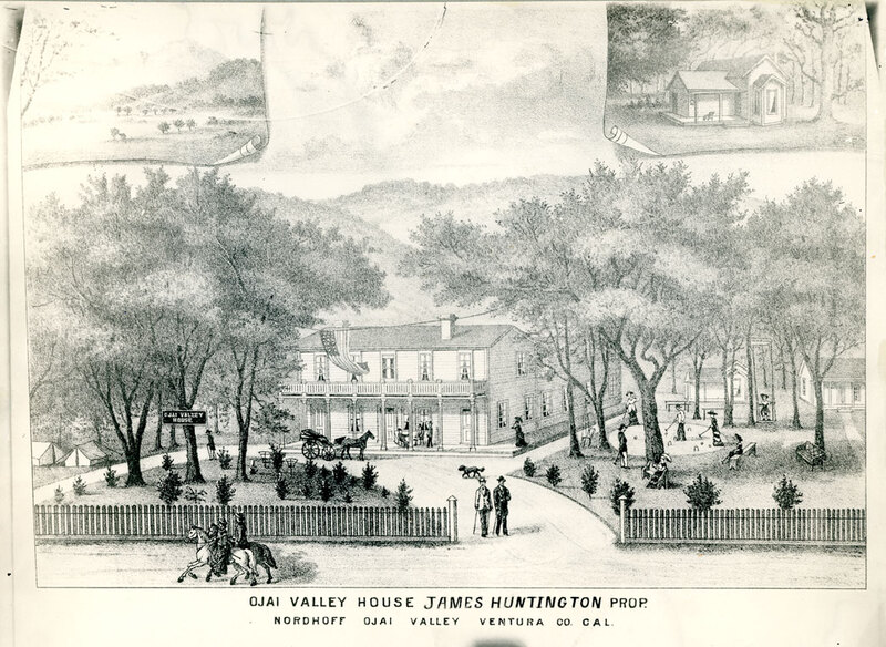 Ojai Valley House Illustration