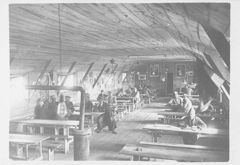 U.S. Army Soldiers in Dining Hall in France, World War I