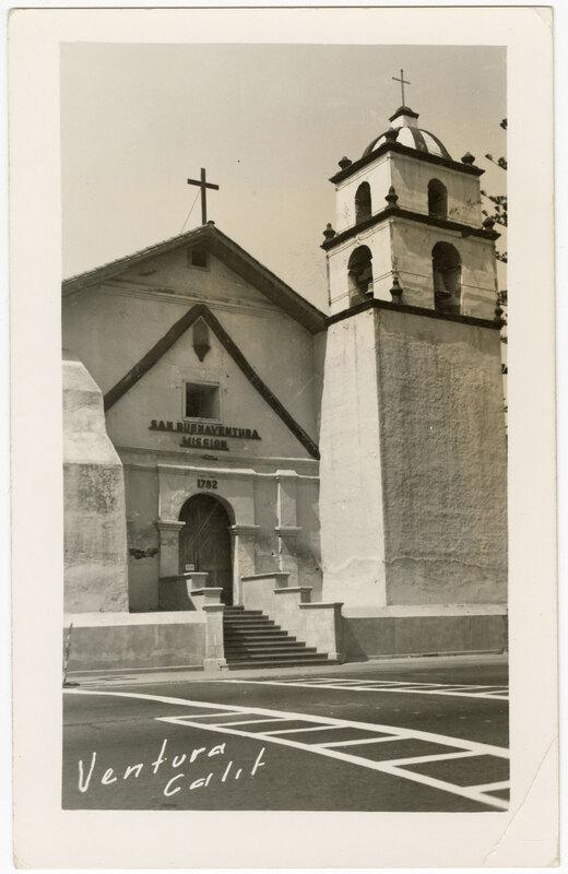 San Buenaventura Mission, Ventura, Calif. Post Card