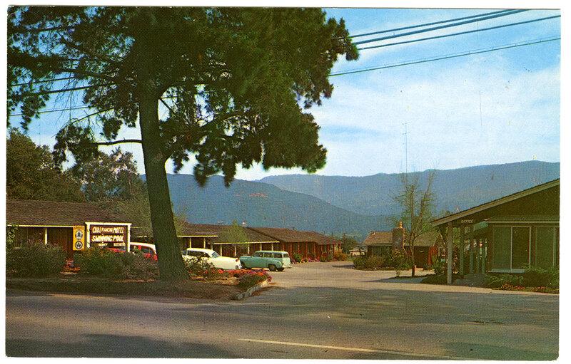 Ojai Rancho Motel postcard