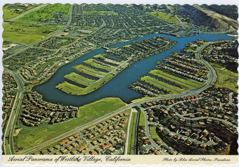 Aerial Panorama of Westlake Village postcard
