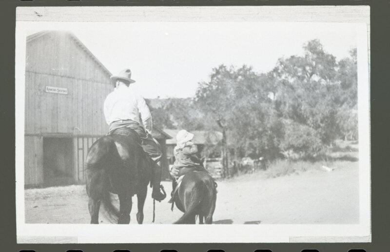 Katherine L. Hoffman and Walter H. Hoffman, Jr. Riding Horses at Rancho Casitas