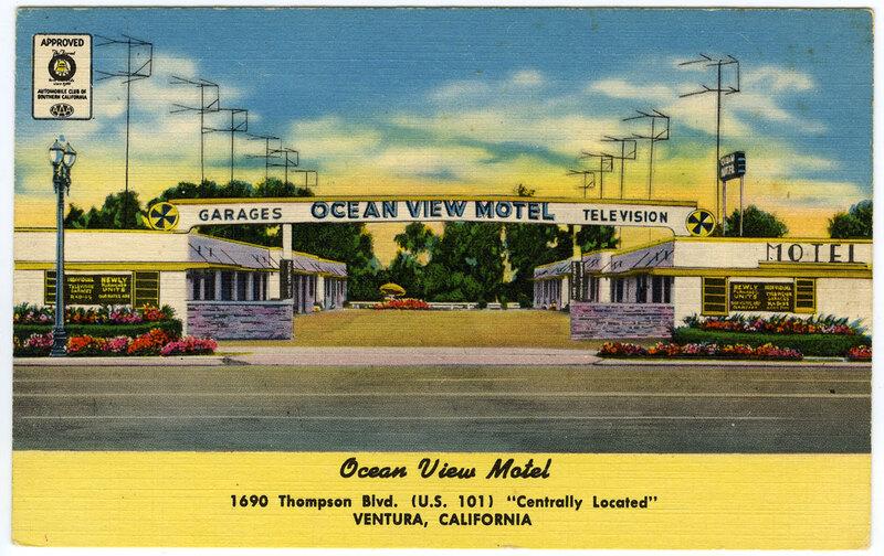 Ocean View Motel postcard