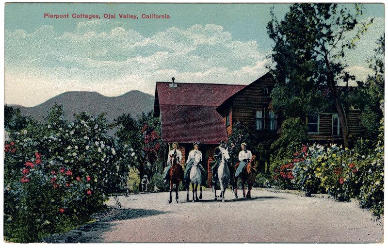 Pierpont Cottages, Ojai Valley postcard
