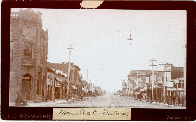 Main and Oak Streets, Ventura, 1896