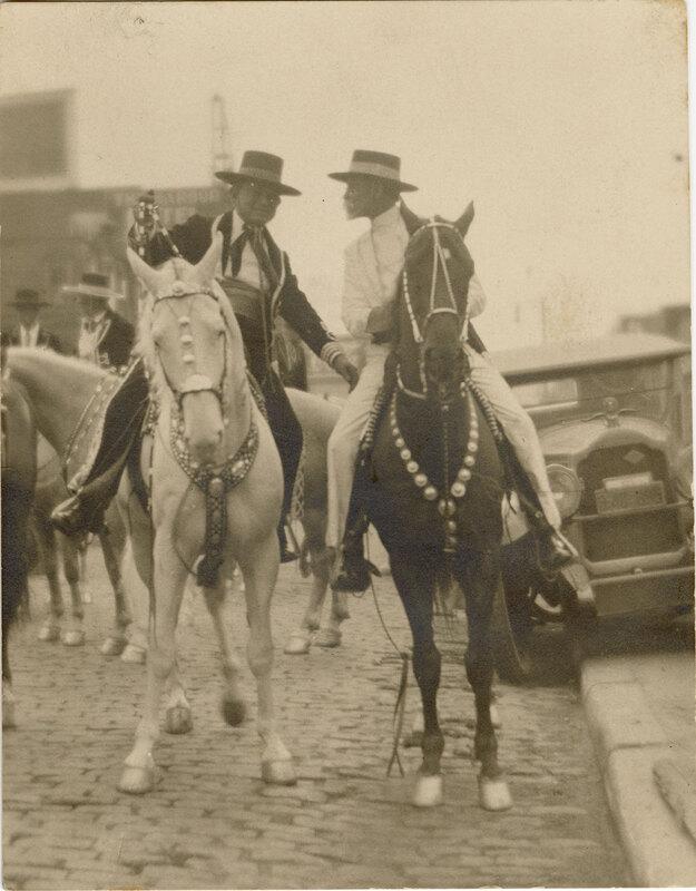Adolfo Camarillo and Abe Hobson on Horseback