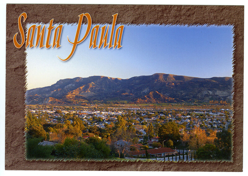 Greetings from Santa Paula postcard