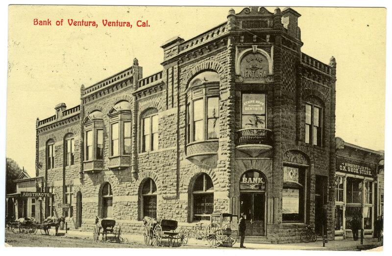 Bank of Ventura post card