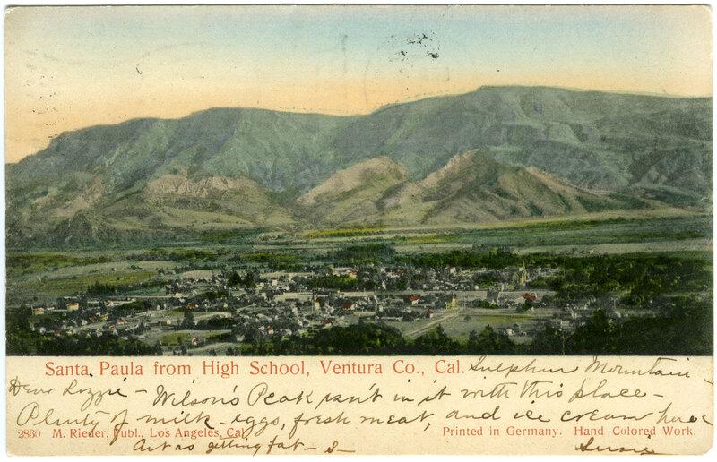 Santa Paula from High School postcard
