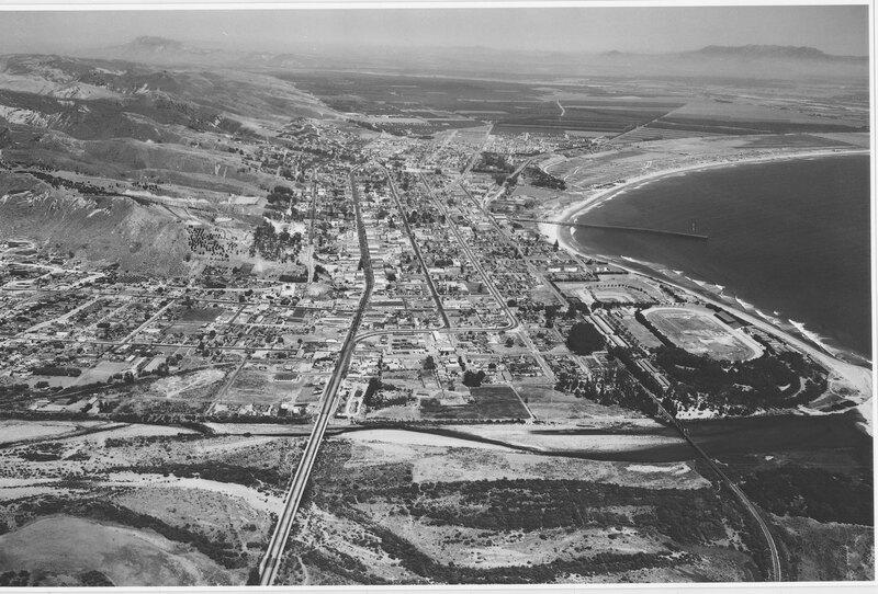 Aerial Oblique View of Ventura, 1940