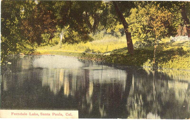 Ferndale Lake, Santa Paula postcard