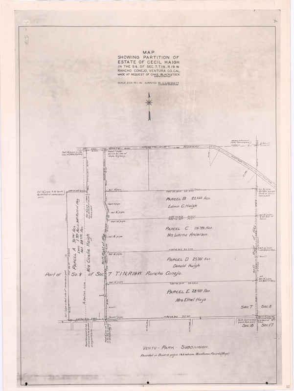 Rancho El Conejo Partition Of Haigh Property map