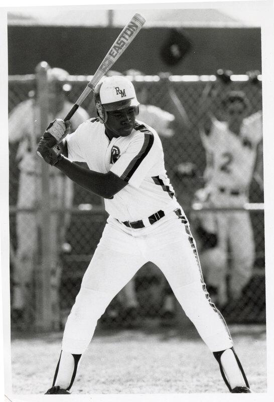 Dmitri Young, in the Oxnard Rio Mesa High School Baseball Team Uniform