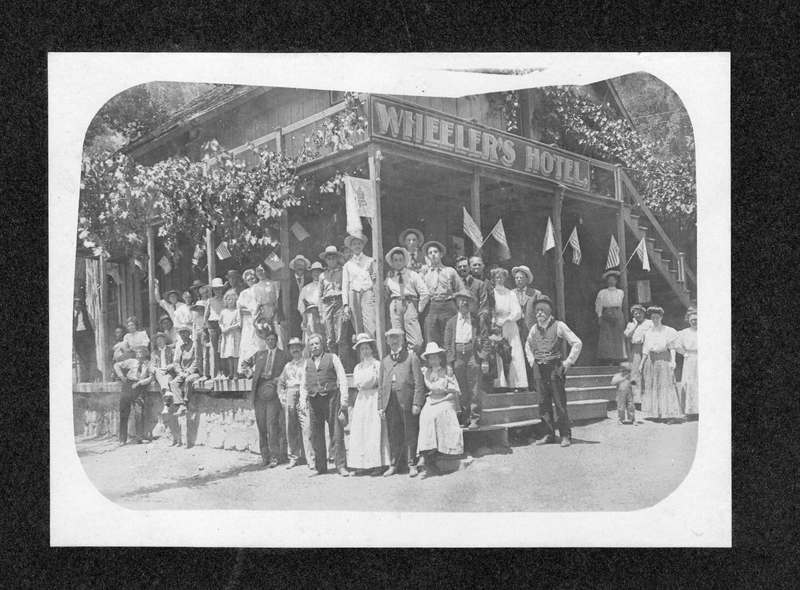 Group portrait in front of Wheeler's Hotel