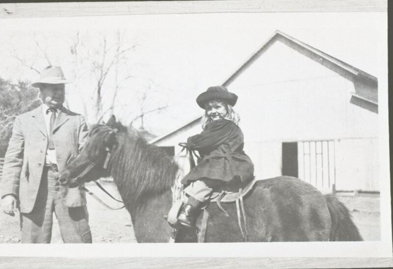 Walter H. Hoffman, Jr. and Katherine Louise Hoffman On Horseback