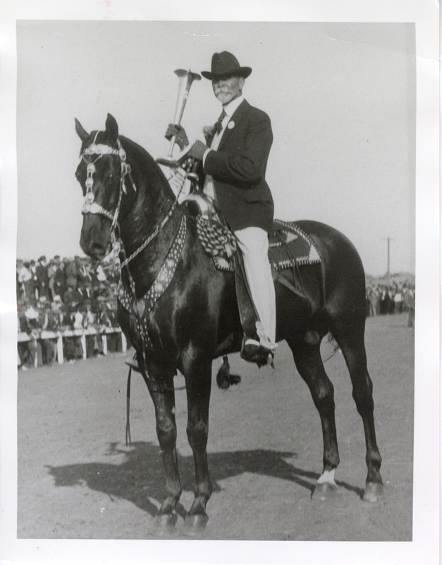 A. L. Hobson on Horse