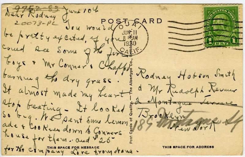 St. Thomas of Villanova Preparatory School post card verso