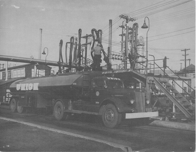 Loading Oil Tank Trucks