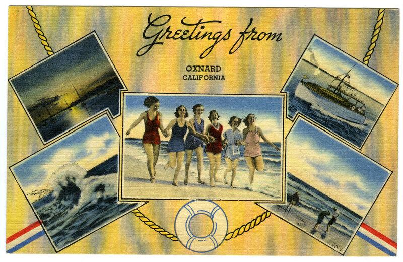 Greetings from Oxnard, California postcard