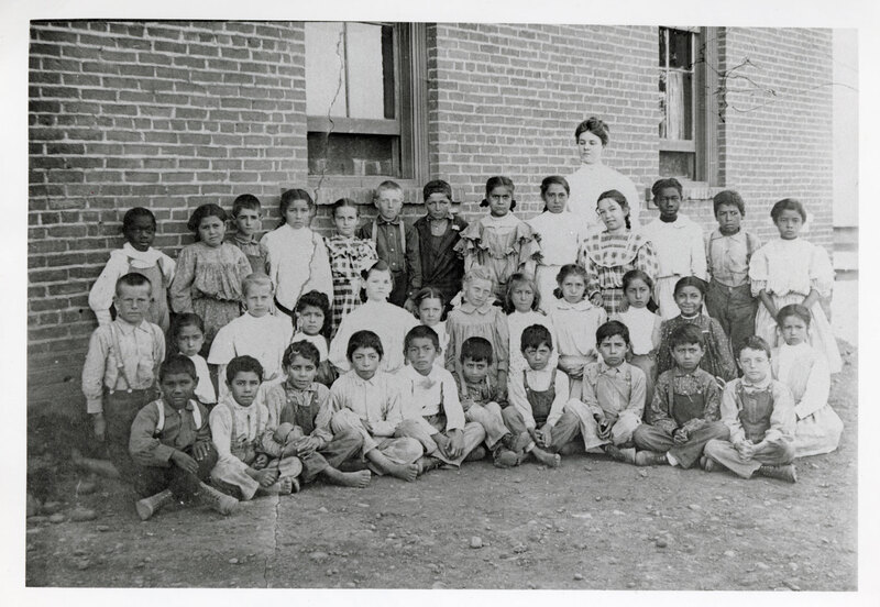 Group Photo of Children at Hill Elementary School (Poli St. School)