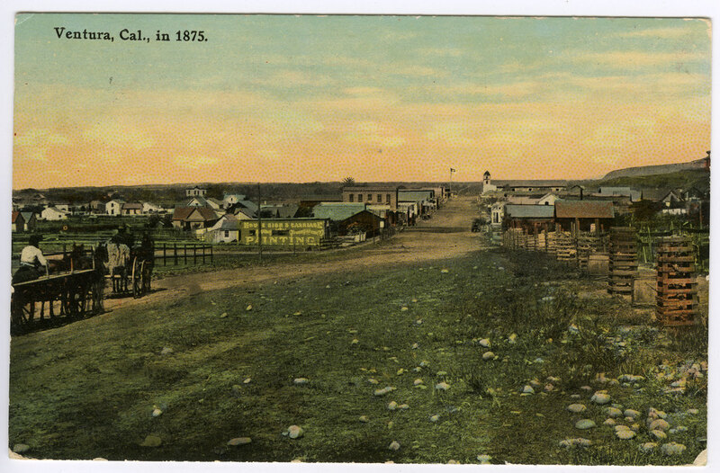 Ventura in 1875, post card