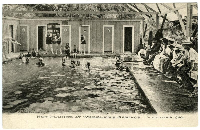 Wheeler's Springs Pool postcard