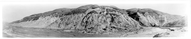St. Francis Dam Area After March 1928 Disaster, Landscape Around Site