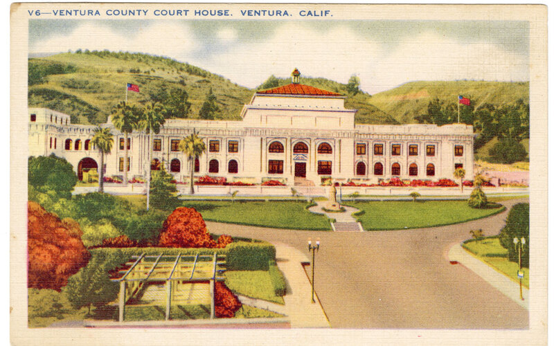 Ventura County Court House Post Card