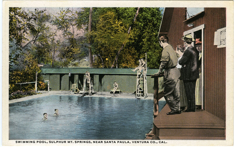 Swimming Pool, Sulphur Mt. Springs postcard