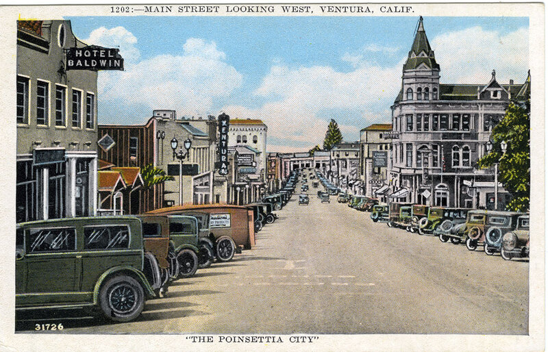Main Street Looking West postcard