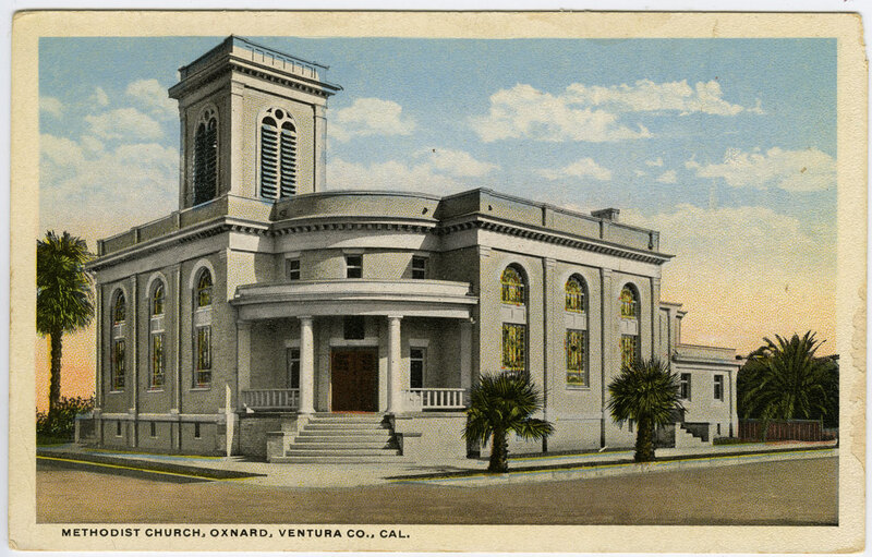 Methodist Church, Oxnard postcard