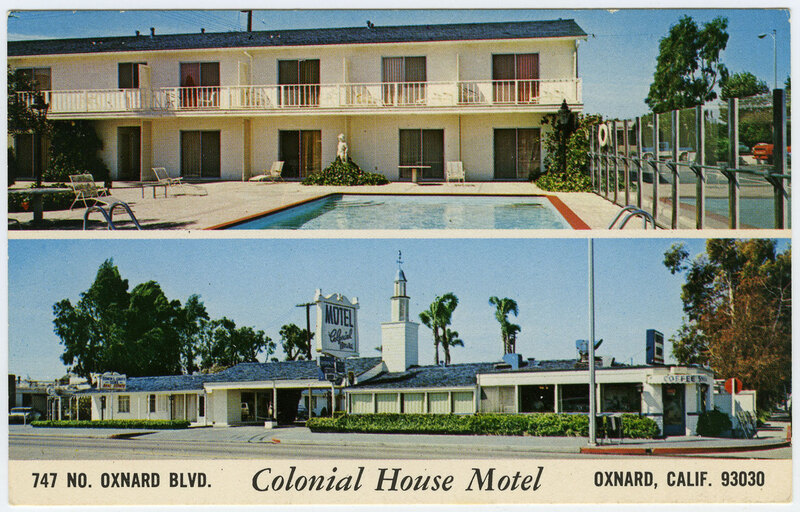 Colonial House Motel postcard