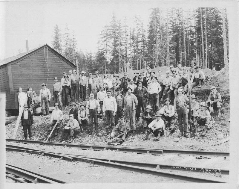 Polson Log Company Group Photo of Loggers