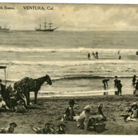 Ventura Beach Scene Post Card