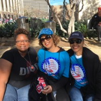 Friends at the Million Woman March
