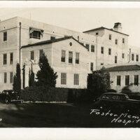 Foster Memorial Hospital postcard