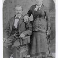 Mr. and Mrs. Thomas Cloyne black and white