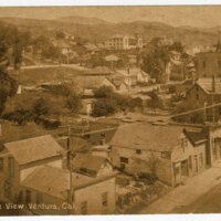Bird's Eye View, Ventura, Cal. Post Card