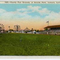 County Fair Grounds at Seaside Park, Ventura, Calif. postcard