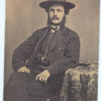 Dr. Cephas Bard seated portrait