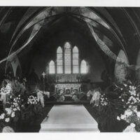 St. Paul's Episcopal Church Decorated for Hobson-Hoffman Wedding