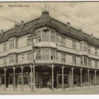 Anacapa Hotel, Ventura, Cal. Post Card