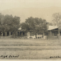 Union High School, Nordhoff, Cal. postcard