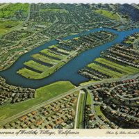Aerial Panorama of Westlake Village postcard