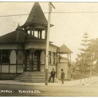 Christian Church-Ventura postcard
