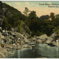 Creek Scene, Matilija Hot Springs postcard
