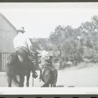 Katherine L. Hoffman and Walter H. Hoffman, Jr. Riding Horses at Rancho Casitas