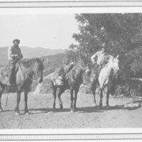 Sam Frazier and Reginaldo Ruiz on Horseback